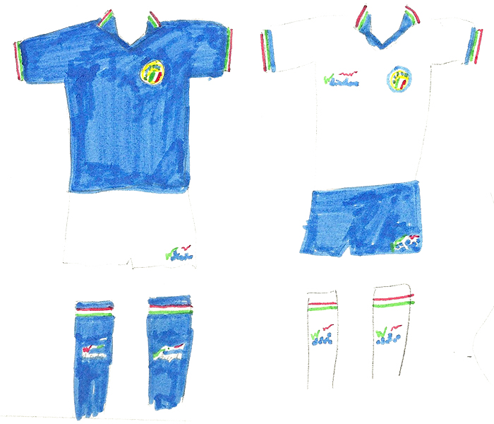 italy 90 home and away copy
