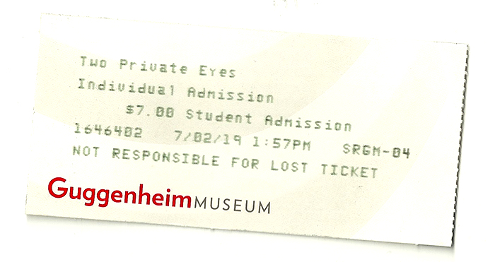 nyc 99 8 guggenheim ticket